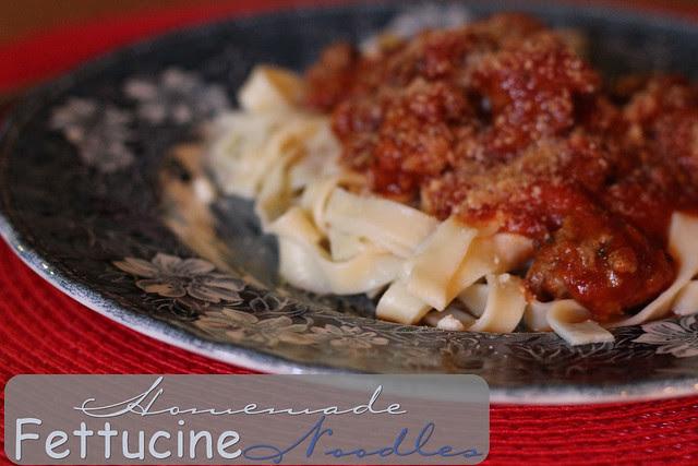 Homemade Fettucine Noodles
