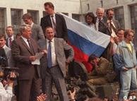 Boris Ieltsin em agosto de 1991