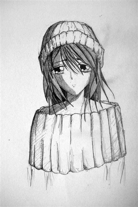 drawing anime sad girl kids drawing coloring page