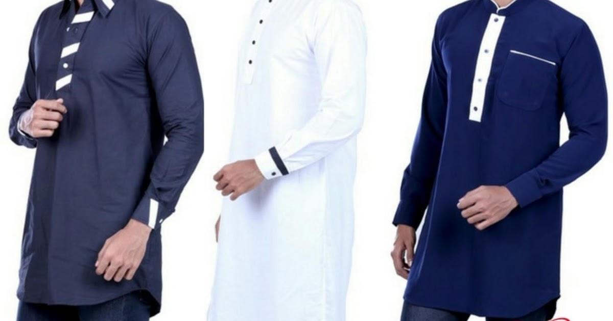 BELI SEKARANG Mode India Busana Muslim Pria Baju Koko Pria Baju Gamis Pria Hurricane ~ Jual