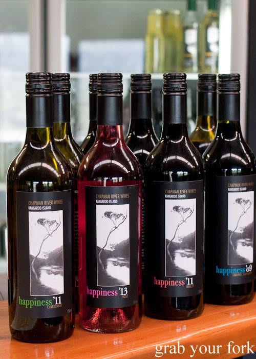 Happiness wines at Chapman River Wines cellar door, Kangaroo Island