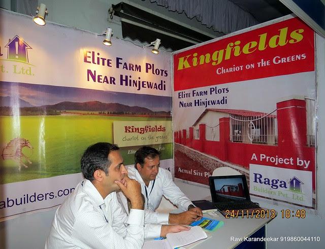 Raga Builders' (www.ragabuilders.com) Kingfields - Farm Plots near Hinjewadi - Pune Property Exhibition, Times Property Expo 'Investment Festival 2013', 23rd & 24th November 2013
