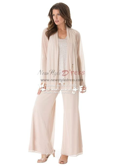 Fashion mother of the bride pant suits Plus size loose