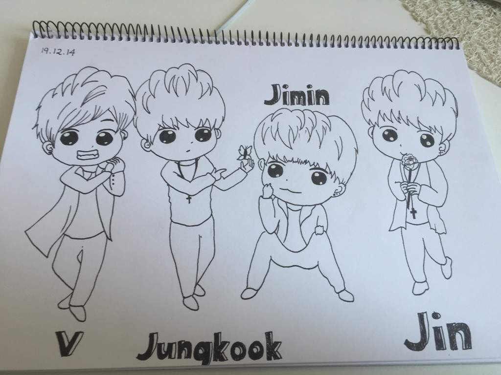 Bts Drawing Chibi Easy At Getdrawingscom Free For Personal Use
