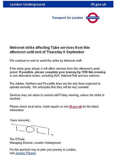 Email from Tube MD