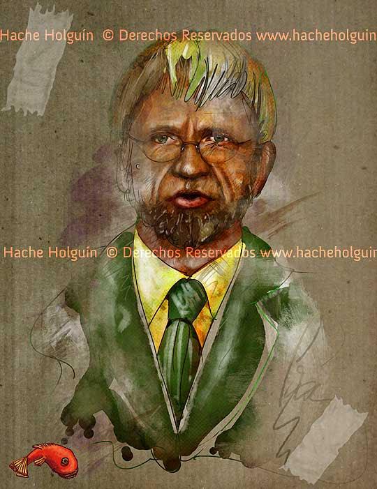 Retrato de Antanas Mockus por Hache Holguín