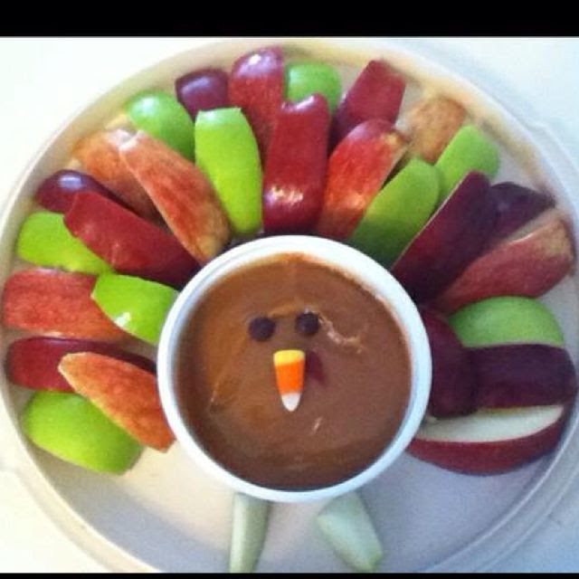 Apples and caramel dip--Thanksgiving style