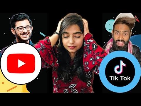 Youtube Vs Tiktok Carryminati