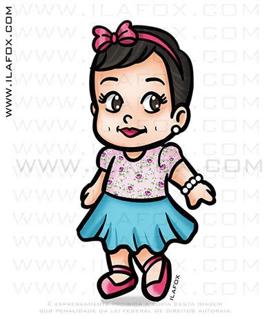 caricatura fofinha, mini caricatura, caricatura infantil by ila fox