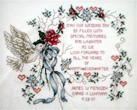 Wedding Sampler Cross Stitch Patterns   Patterns Gallery