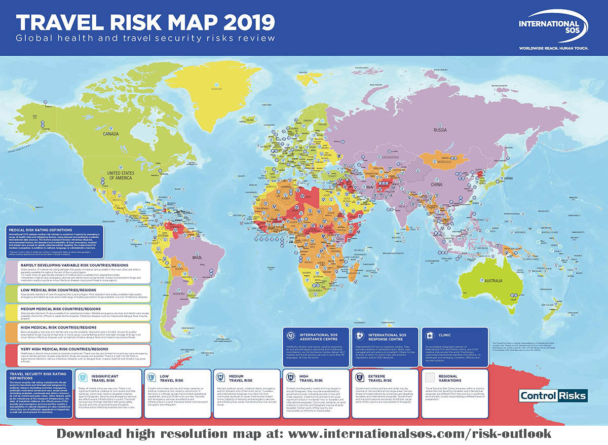 """Travel Risk Map puts Iran among """"insignificant risk ..."""
