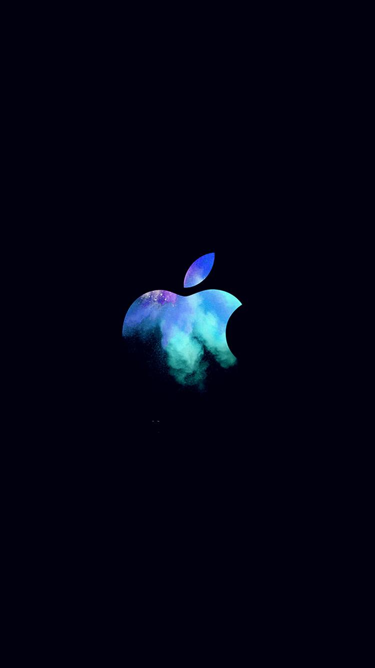 iPhonepapers.comAppleiPhone8wallpaperau33applemaceventlogodarkillustrationartblue