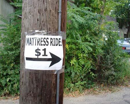 One Dollar Mattress Rides