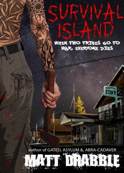 Book Cover for horror thriller Survival Island by Matt Drabble.