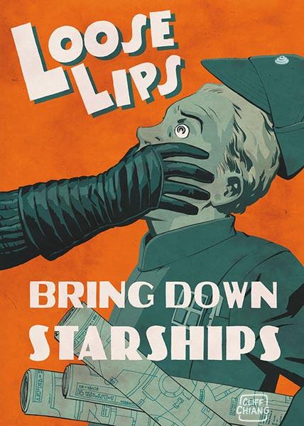 Loose Lips Bring Down Star Ships Propaganda Poster