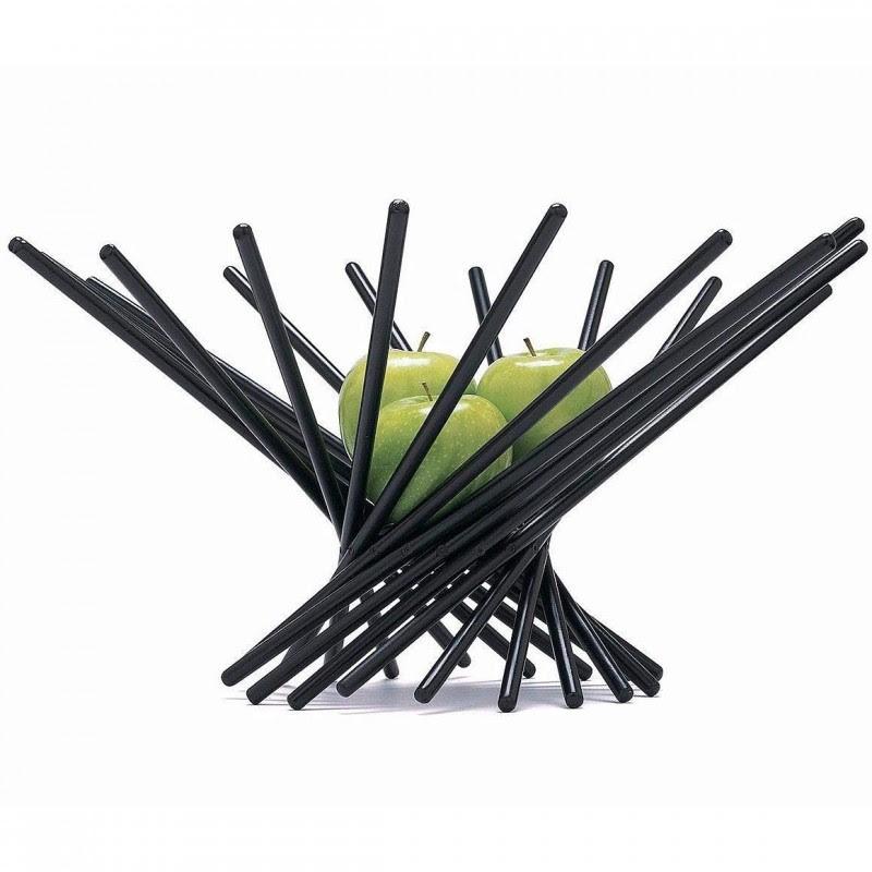 MoMA Satellite Fruit Bowl in Black, Large