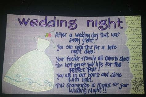 Wedding Night Poem for Wine Basket Back   Gift Ideas