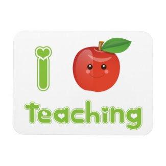 I Heart Teaching - Magnet premiumfleximagnet