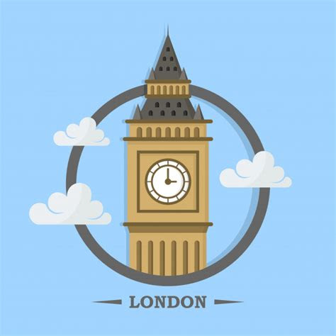 big ben  london logo design template vector premium