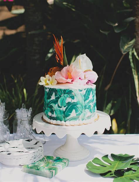 Tropical Inspired Bridal Shower   WEDDING CAKES   Shower