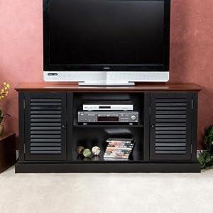 Amazon.com: Southern Enterprises Antebellum Two-Tone Media Stand ...