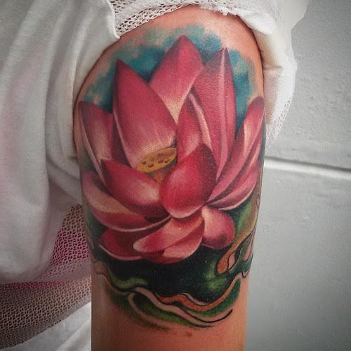 Tattoo Flor De Loto Tattoo Ta2 Design Diseño Ink Tinta