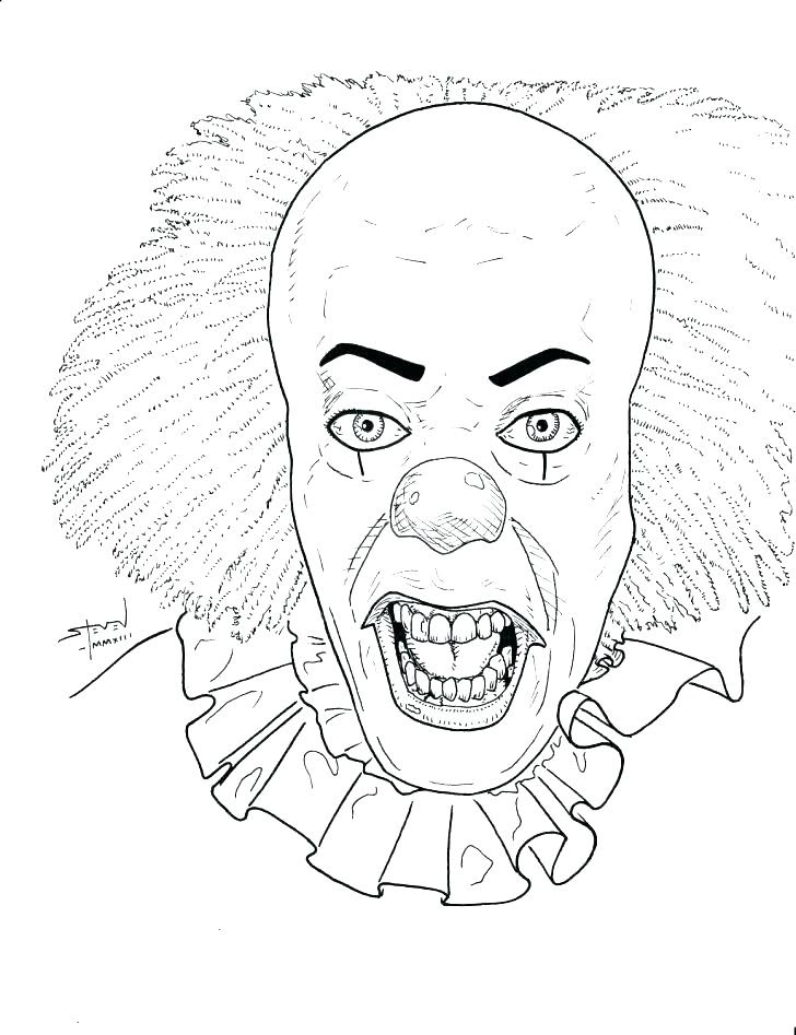 Clown Coloring Pages For Adults at GetColorings.com | Free ...