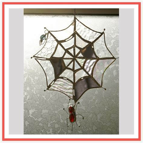 Spider Web Stained Glass Suncatcher   Folksy   Craftjuice