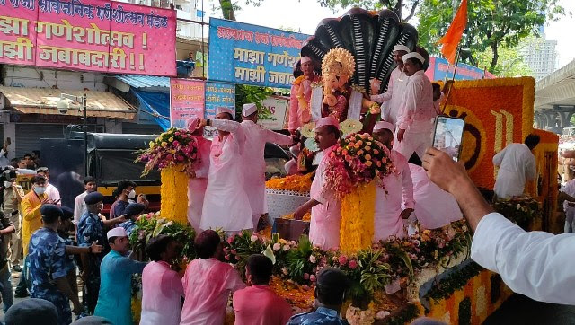 Reportedly, the iconic Lalbaugcha Raja Ganesh visarjan was to start at 10.30 am and wrapped up by 1 pm. This was unlike the previous year's yatra's, which are usually of 14-hours. Sachin Gokhale/Firstpost