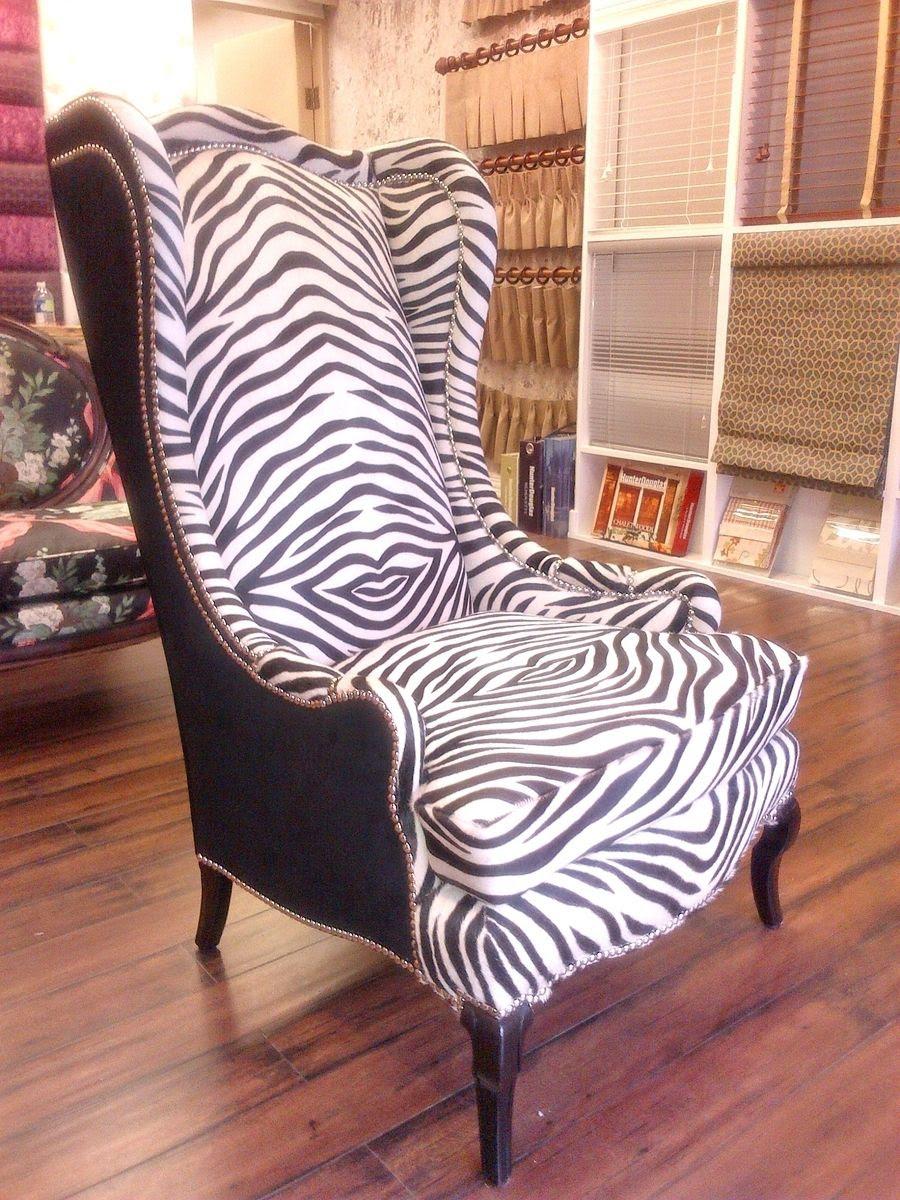 Custom Zebra Wing Chair by PLAZA HOME INTERIORS ...