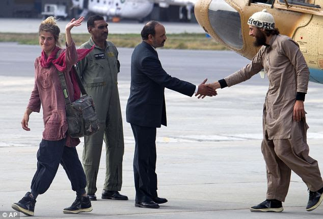 Handshakes: David Och and Daniela Widmer were believed to be held in North Waziristan by one of the Taliban's top lieutenants