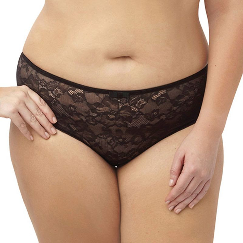 Plus Size Sculptresse by Panache Floral Lace High-Waist Brief 6932, Women's, Size: 20, Grey (Charcoal)