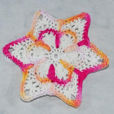 Crocheted Hibiscus Snowflake
