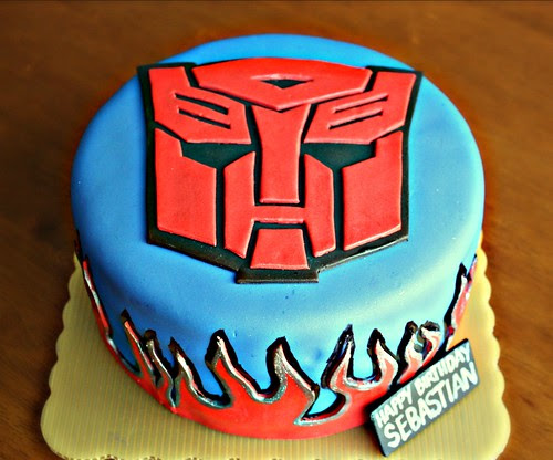 Transformers Autobot Cake
