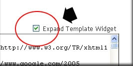 expand widget template