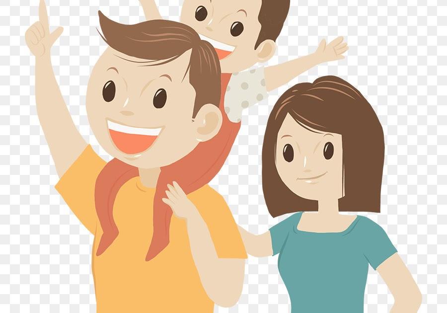 Gambar Animasi Ayah Ibu Dan Anak Laki Laki Belog Kite Kite Aje