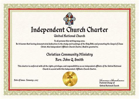 complete ministry church charter package united