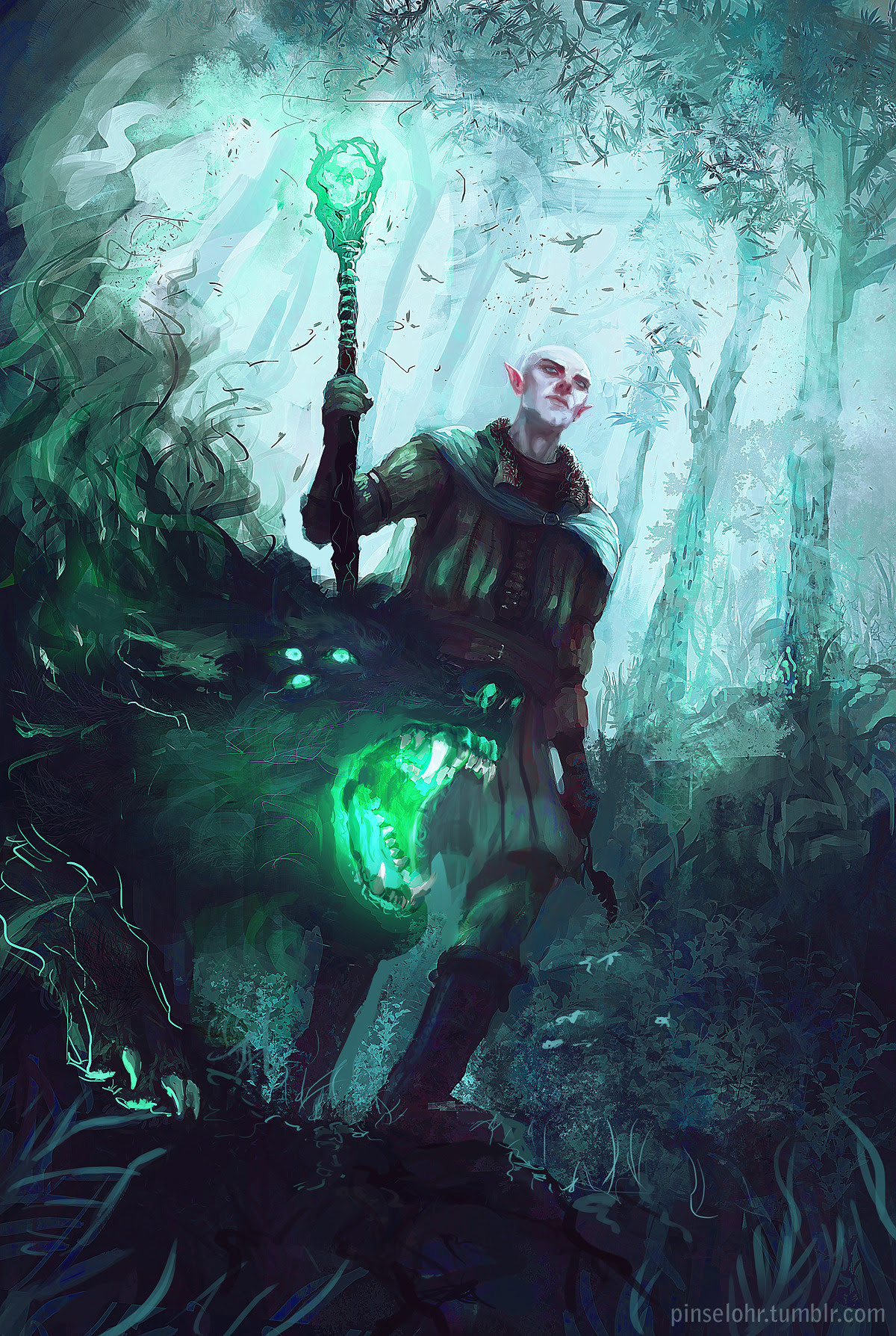 Dragon Age Inquisition: Solas Fan Art by Pinselohr