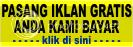 Pasang banner iklan gratis dan pasang iklan baris