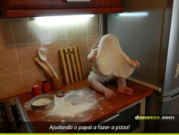 A primeira pizza!