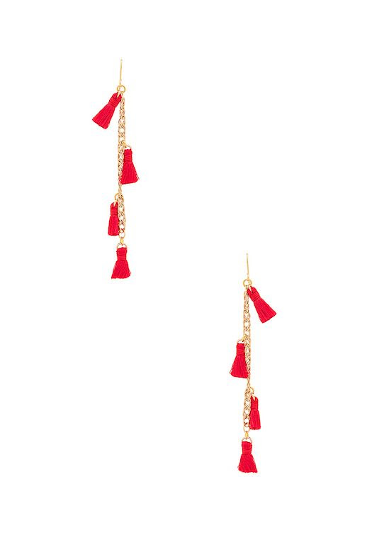 Le Fashion Blog Must Have Vanessa Mooney Tassel Earrings In Red Via Revolve