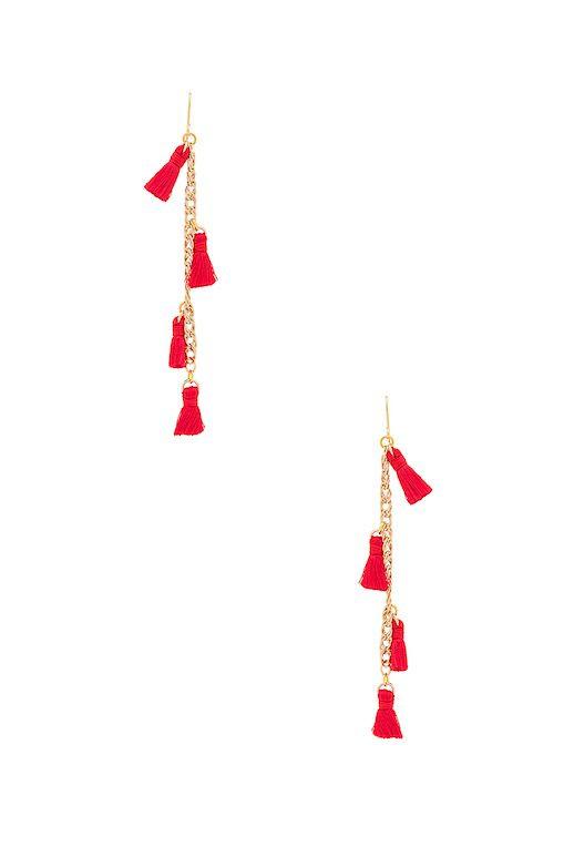 Le Fashion Blog Must Have Vanessa Mooney Tassel Earrings In Red Via Revolve
