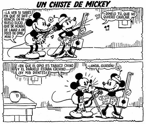 Mickey y el tabaco chino