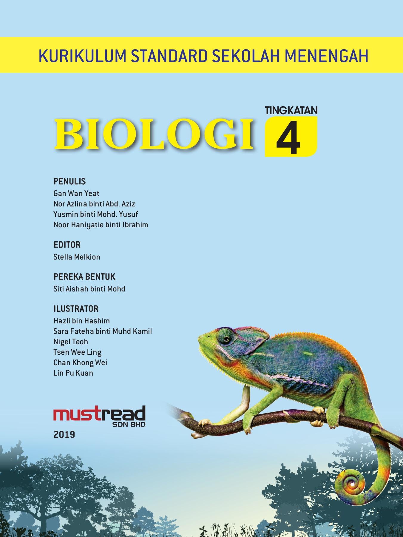Buku Teks Biologi Kssm Tingkatan 4 Bab 1 Bab 7