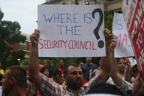 Where is the security council? - Egypt Uprising protest Melbourne 4 Feb 2011