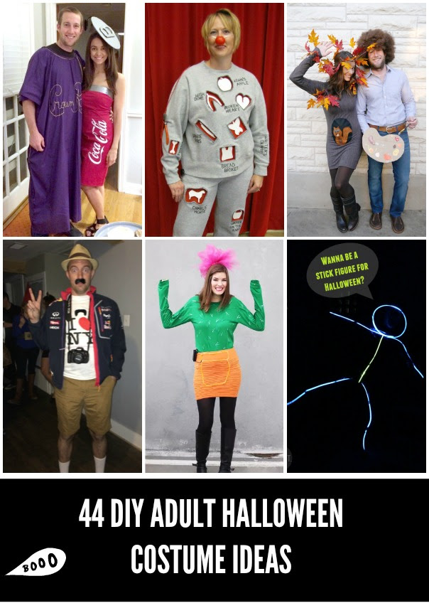 44 Homemade Halloween Costumes For Adults Craft