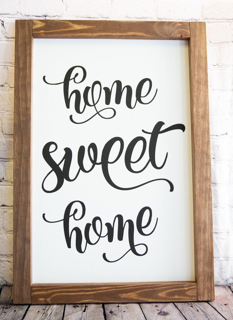 Home Sweet Home Farmhouse Style Sign Rustique General Store