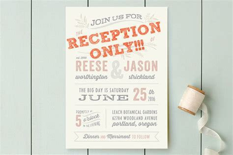 Wedding invitations for reception only: cute wording ideas!