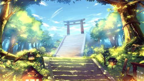 torii gate anime manga artwork computer desktop