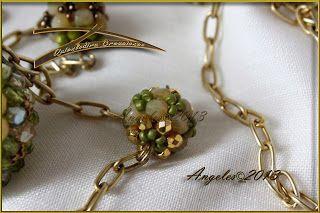 Quienlodira Creaciones: Collar Abrazo Verde By Quienlodira